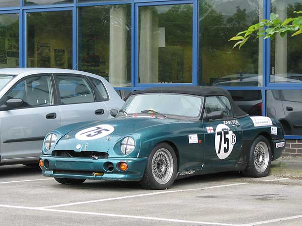 British Motor Heritage Managing Director John Yea has campaigned this MG RV8 race car in England.