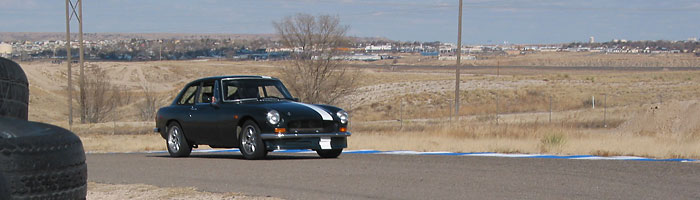 (editor's car at Pueblo Motorsports Park)