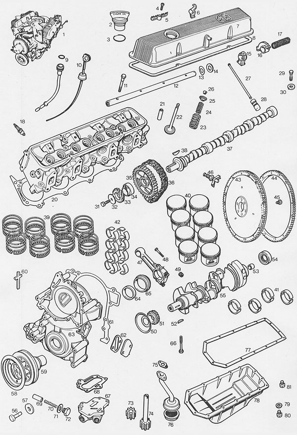MGBGTV8 Parts Catalog A1 moss motors' mgb gt v8 parts supplement (illustrated auto parts mgb engine diagram at aneh.co