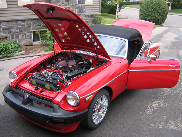 Chris Caso-Rohland's 1978 MGB Roadster with Rover 3 5L V8 engine