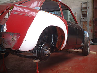 Att Thomas Lay Mgb Gt V8 Project Flared Guards And