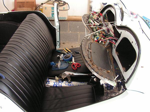 mg td wiring harness installation mg td wire wheel