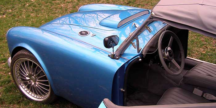 Jeb Blanchard's 1961 MGA with a Chevy 4 3L Vortec V-6 engine