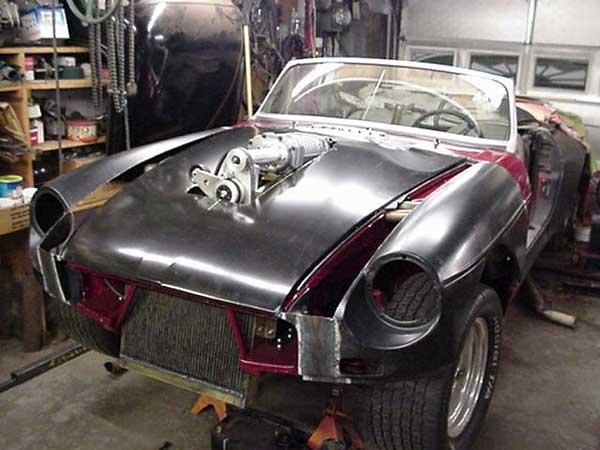 Jim Blackwood S Wicked Blown Oldsmobile 215cid Powered Mgb