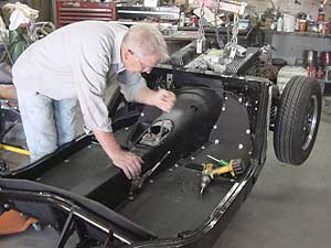 frame-off concours MG restorations to custom trim