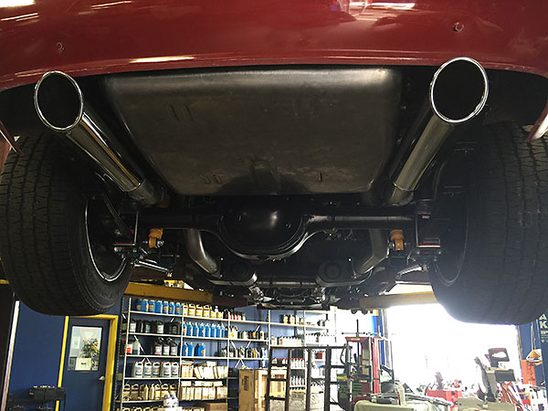 mgb exhaust fitting instructions
