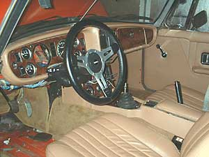 Custom MGB interior, dashboard, ac, and wiring