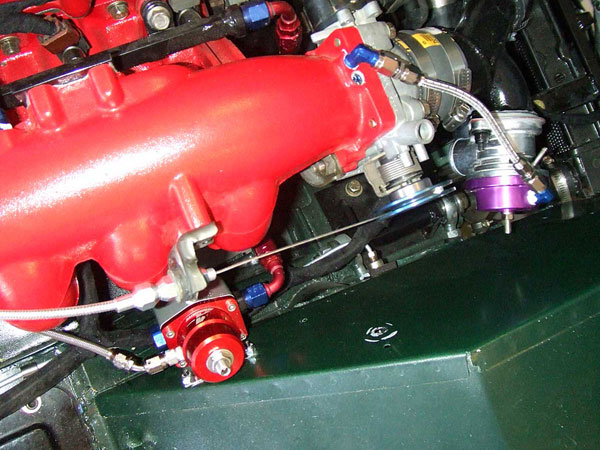 throttle cable and fuel pressure regulator