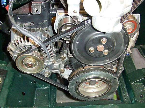 fanbelt and alternator