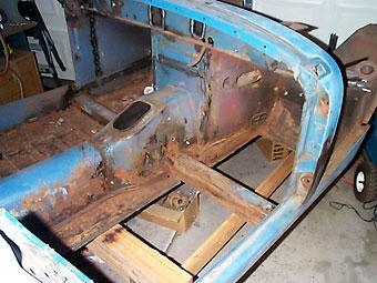 Sprite floorboard rust repair