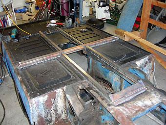 Austin Healey Sprite chassis reinforcement