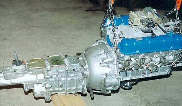 215 Buick Kiste Motor und Tranny