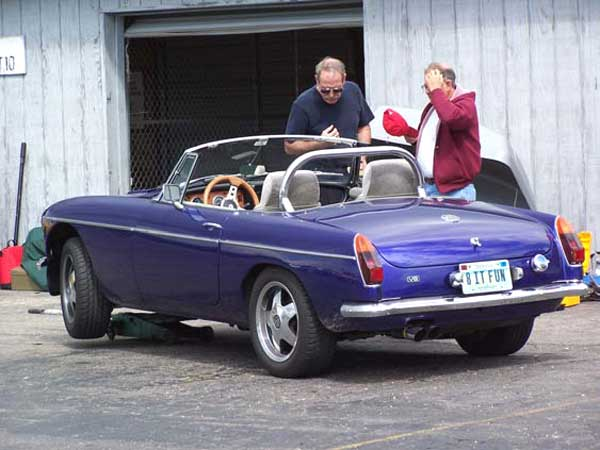 Mikel Moor's Buick 300 powered MGB