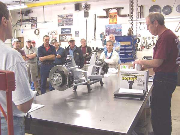 Ted Lathrop presents the Fast Cars front suspension