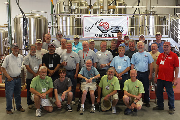 British V8 2017 Participants Visit Greenbrier Valley Brewing