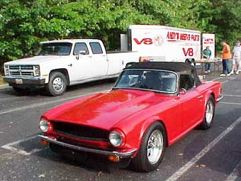Ted Lathrops TR6 V-8