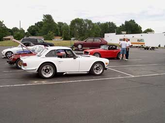 Les Shockey's Ford-powered TR6