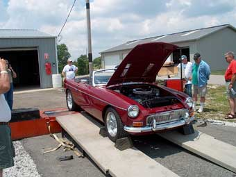 Graham's MGB on the dyno