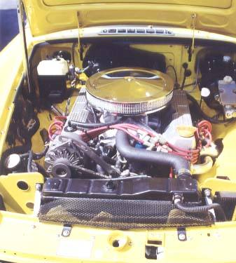 Jeff Foote's '77 MGB with Rover 3.9L V8