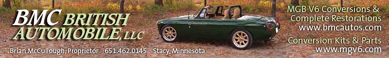 BMC British Automobile LLC: MGB V6 conversions and the parts so you can do them yourself.
