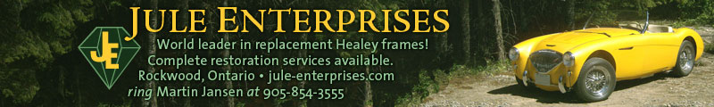 Jule Enterprises: World leading builder of Austin Healey frames, they offer full-service restoration too!