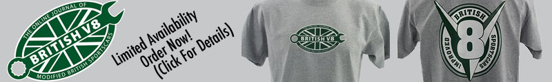 BritishV8 T-shirts: Show Your Enthusiasm for Improved British Sportscars!