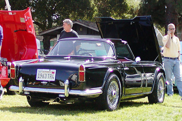 Art Harts 1963 Tr4 With Ford 302 V8 Engine And Rare Surrey Top Option