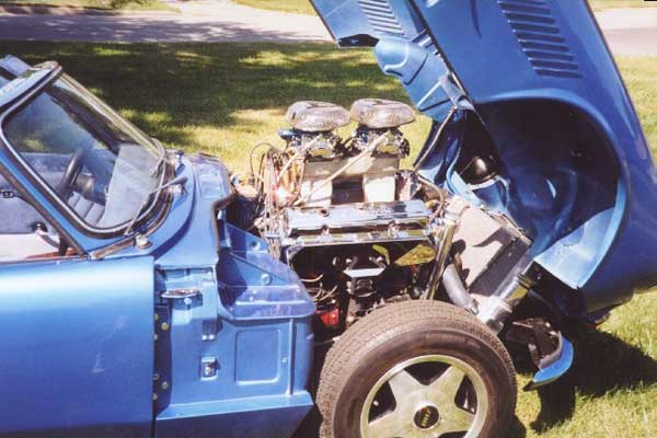 Buddy Fares' Triumph Spitfire with Chevy V8 Engine