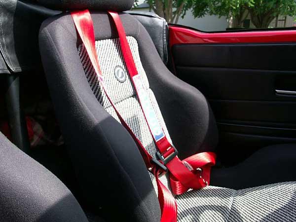 Corbeau seats w/Sparco seat belts