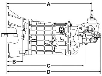 Ford Aod Transmission Mustang as well Borg Warner T 56 Transmission additionally  on gm t5 transmission length chart