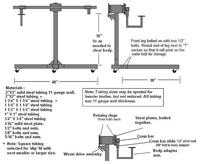 Instructions For Building An Auto Body Rotisserie